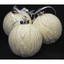 Irish Christmas - Aran Ball Ornaments - Set of 3