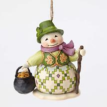 Irish Christmas - Irish Snowman Ornament