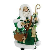 Irish Christmas - Musical Irish Santa Holding Staff