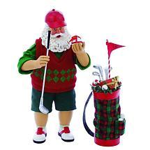 Irish Christmas - Irish Golfer & Bag Santa