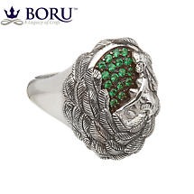 Irish Ring - Danu Ring with Green CZ