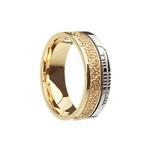Celtic Ring - Comfort Fit 'Faith' Trinity Knot Irish Wedding Band