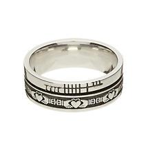 "Irish Rings - Comfort Fit ""Faith"" Claddagh Wedding Band"