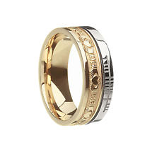 "Irish Rings - Comfort Fit ""Faith"" Claddagh Wedding Band"