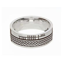 Celtic Ring - Comfort Fit 'Faith' Celtic Knot Irish Wedding Band