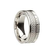 Celtic Ring - Comfort Fit 'Faith' Celtic Knot Irish Wedding Band