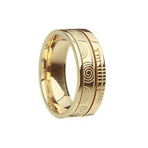 "Irish Rings - Comfort Fit ""Faith"" Newgrange Wedding Band"