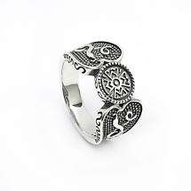Celtic Ring - Antiqued Sterling Silver Celtic Warrior Irish Ring