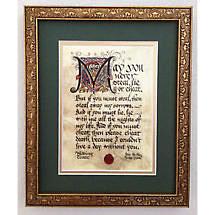Irish Framed Print - Wedding Toast
