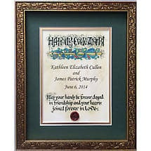 Personalized Irish Wedding Blessing Celtic Artwork Framed Print