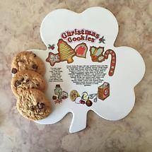 Irish Christmas - Shamrock Tray with Christmas Cookie Recipe