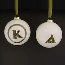 Irish Ornament - Letter Ball Ornaments