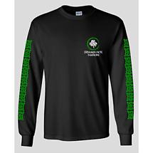 Irish T-Shirt - Celtic Cross Long Sleeve Black T-Shirt