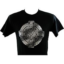 Irish T-Shirt - Printed Circle of Life - Black
