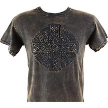 Irish T-Shirt - Embossed Circle of Life - Brown