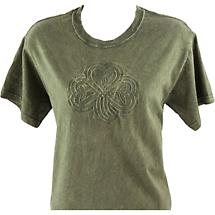 Irish T-Shirt - Embossed Shamrock Knot - Green