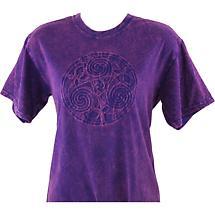 Irish T-Shirt - Embossed Triskele - Purple