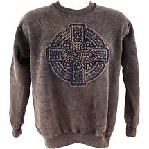 Irish Sweatshirt - Embossed Circle of Life - Brown