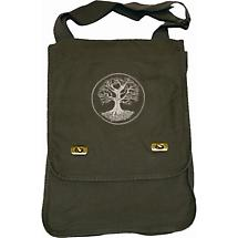 Embroidered Tree of Life Field Bag