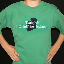 Irish T-Shirt - Tonight I Drink for Ireland