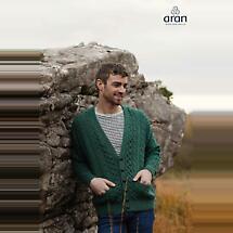 Irish Wool Sweater - Men's Merino V-neck Cardigan