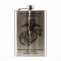 Personalized Irish Hip Flask 8oz Stainless Steel