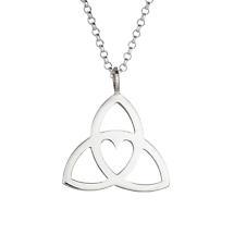 Celtic Necklace - Sterling Silver Celtic Heart Pendant