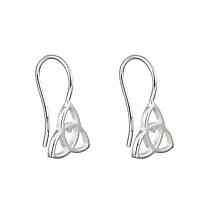 Celtic Earrings - Sterling Silver Celtic Heart Earrings