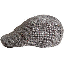 Vintage Irish Donegal Tweed Tailored Cap Grey Salt and Pepper