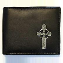 Irish Wallet - Celtic Cross Leather Wallet