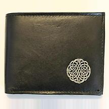 Irish Wallet - Celtic Knot Sprial Leather Wallet