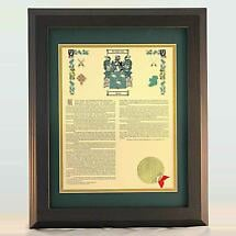Personalized 11 x 14 History with Coat of Arms Matted & Framed Print