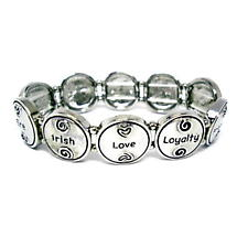 Irish Words Stretch Bracelet
