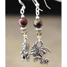 Irish Earrings - Dragon Blood Jasper Earrings