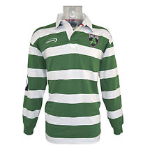 Irish Rugby Shirt - Green and White Striped Ireland Rugby Shirt