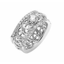Celtic Wedding Ring - Ladies White Gold Celtic Trinity Love Knot 0.80 ct. Diamond Wedding Ring