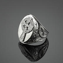 Celtic Ring - Sterling Silver Celtic Cross Trinity Knot Ring