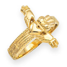 Claddagh Ring - Gold Classic Claddagh Cross Ring