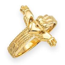 Claddagh Ring - Gold Classic Claddagh Cross Ring
