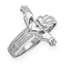 Claddagh Ring - Sterling Silver Classic Claddagh Cross Ring