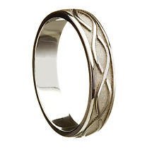 Irish Wedding Ring - Celtic Twist Ladies Wedding Band