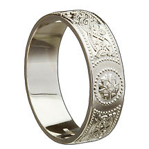 Irish Wedding Ring - Celtic Warrior Ladies Wedding Band