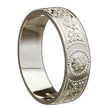 Irish Wedding Ring - Celtic Warrior Mens Wedding Band