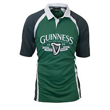 Guinness Grey and Green Performance Rugby Shirt