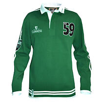 Guinness Green Long Sleeve Rugby Shirt