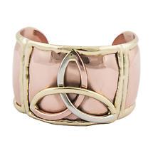 Grange Irish Jewelry - Copper Three Color Trinity Knot Wide Bangle