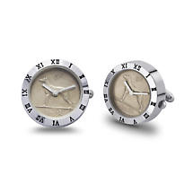 Irish Penny Watch - Irish Sixpenny Mens Cufflinks Watch