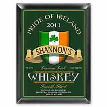 Personalized Irish Whiskey Pub Sign