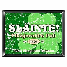 Personalized Jolly Green Shamrock Pub Sign