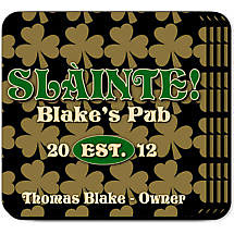 Personalized Irish Coaster Set - Field of Shamrocks